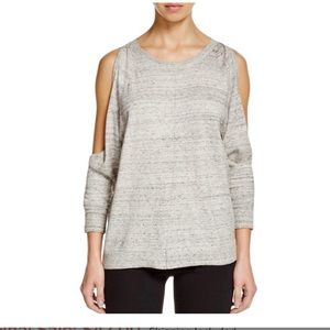 Bailey 44 Cold Shoulder Long Sleeve Gray Sweater